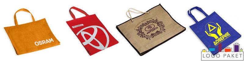 Примеры сумок из спанбонда с печатью