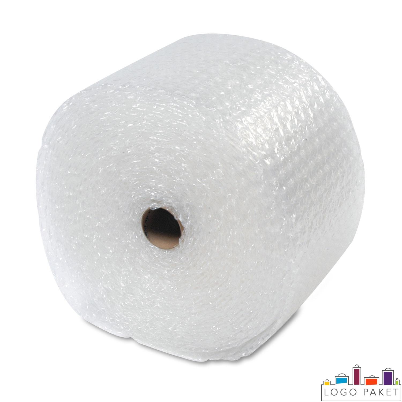 Воздушно пузырьковая пленка скатанная в рулон и отображена в профиль