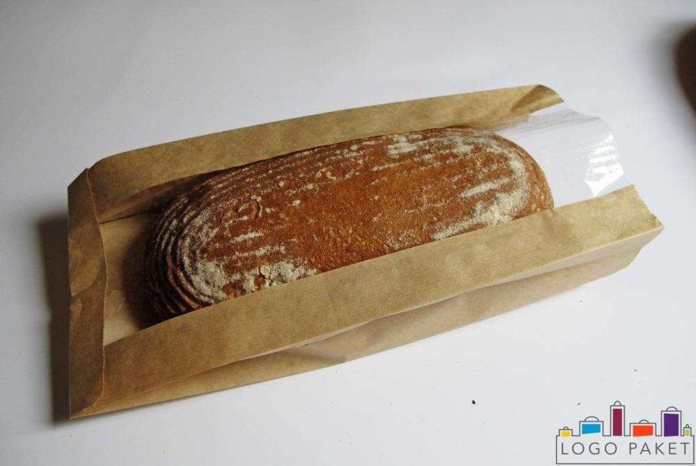 пакет для хлеба крафт с хлебом