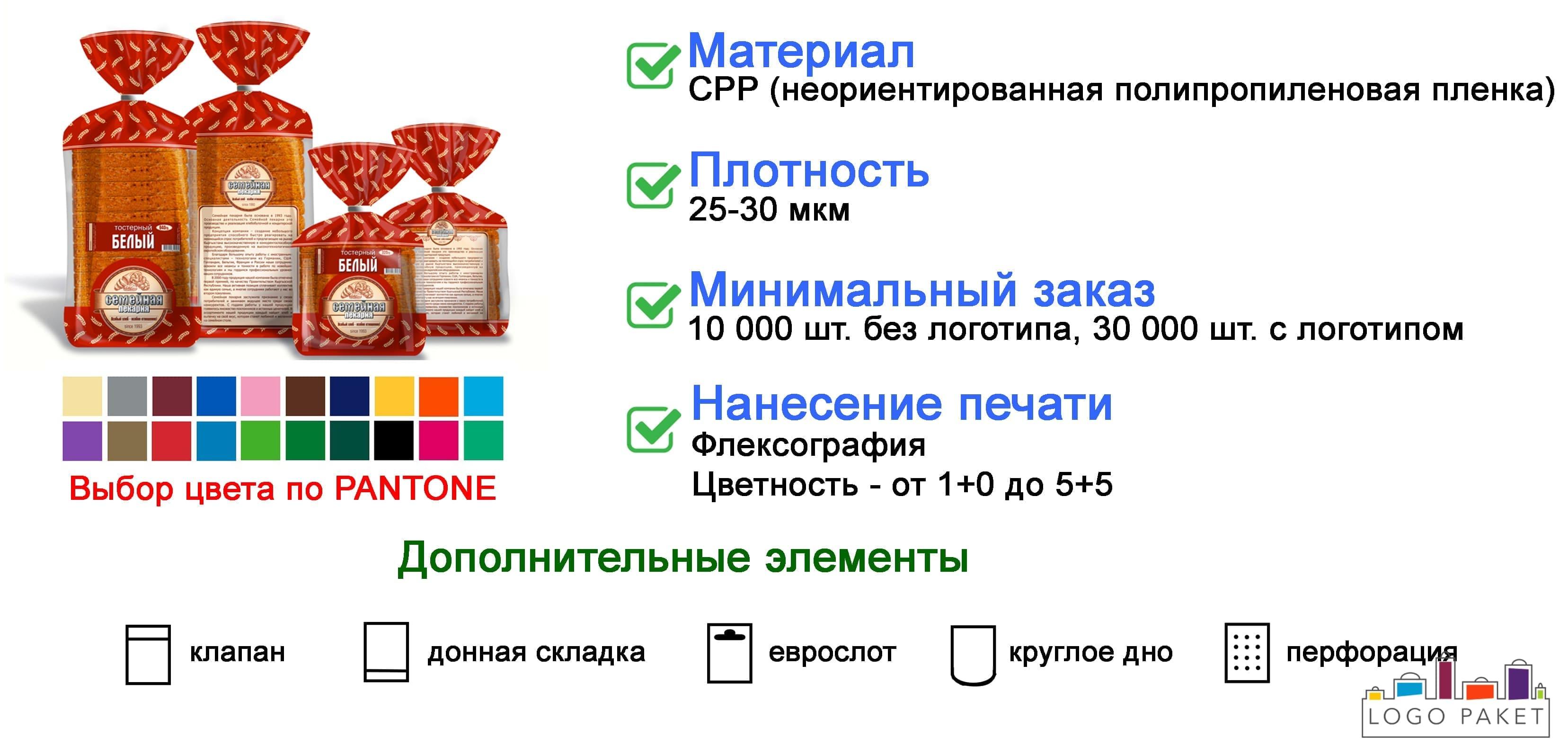 Пакеты СРР для хлебобулочных изделий инфографика