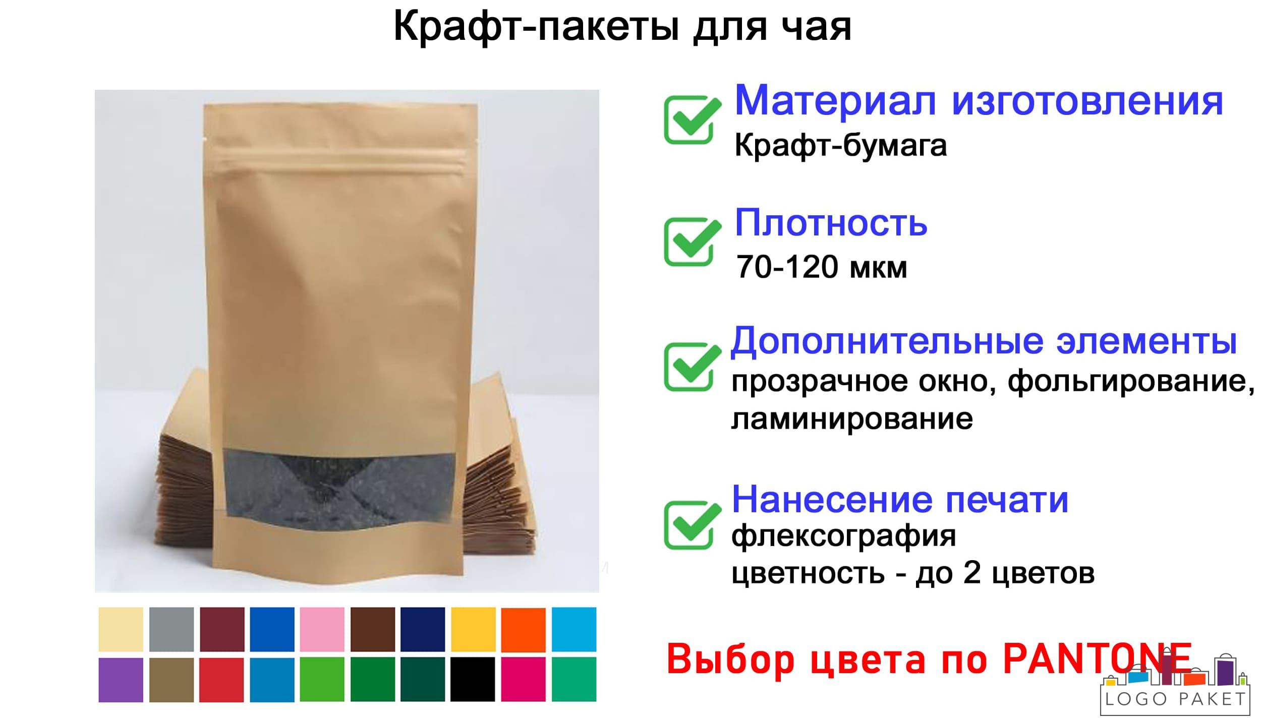 Крафт-пакеты для чая инфографика