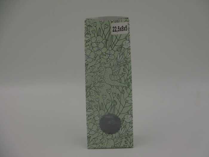 пакет зеленый с окошком