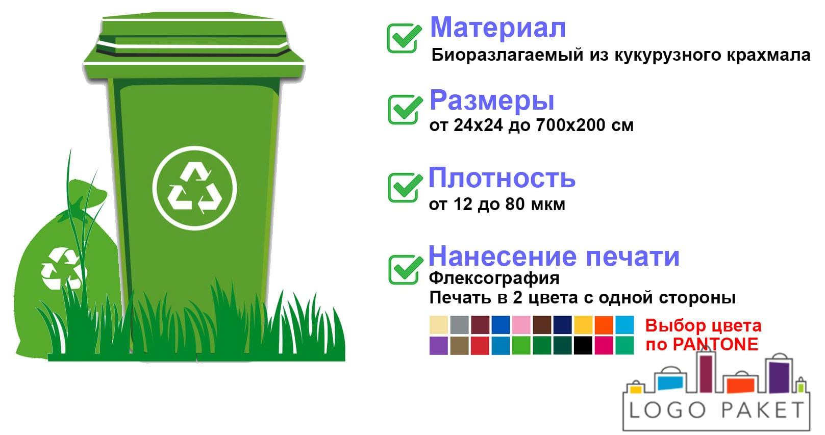 Пакеты для мусора биоразлагаемые инфографика