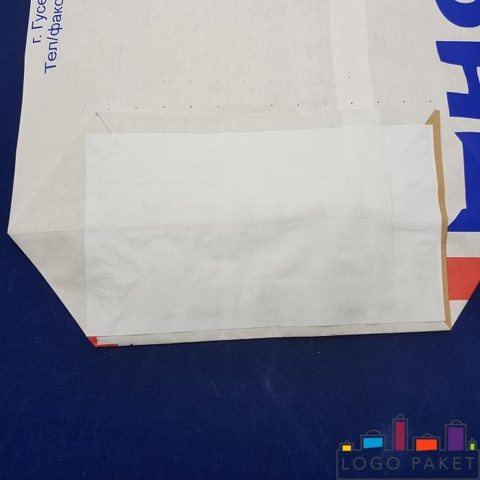 Пакет для цемента с обратной стороны