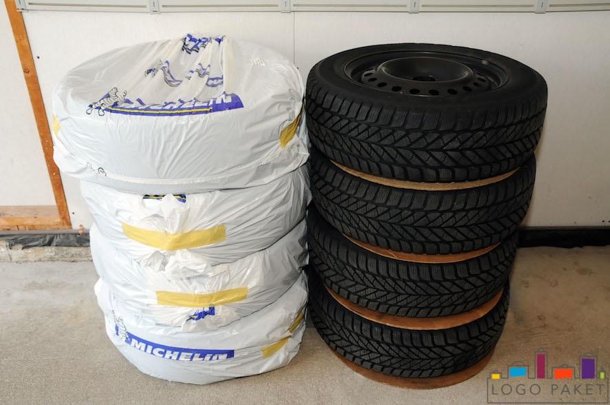 Печать на пакетах для шин
