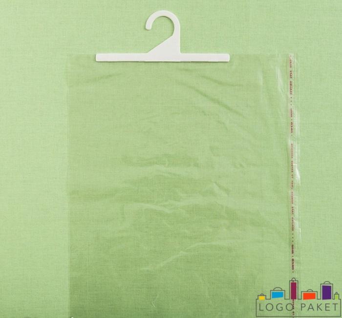 Прозрачный пакет на салатовом фоне без клапана