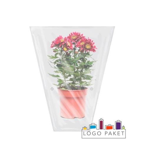 Пакет трапеция с подпайкой для цветов