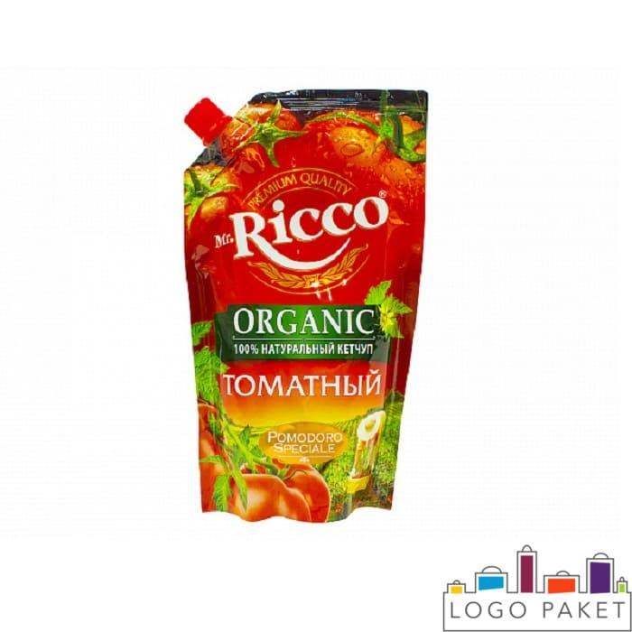 Кетчуп томатный Mr Ricco дой пак с боковым штуцером