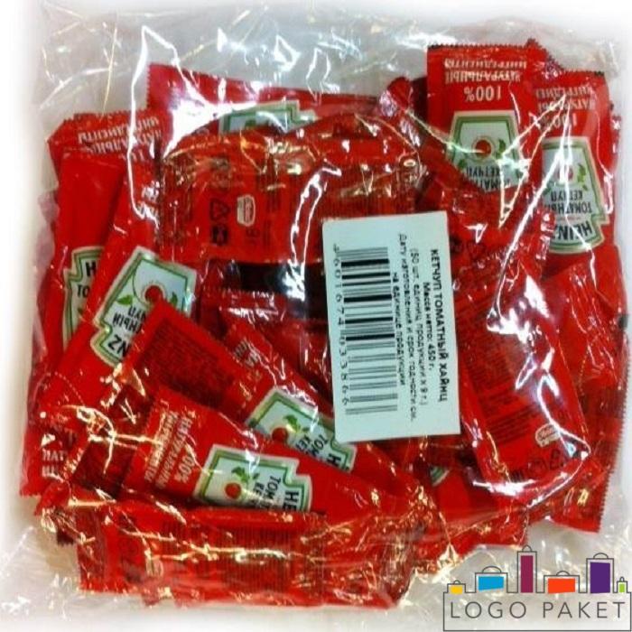 Саше пакетики с кетчупом