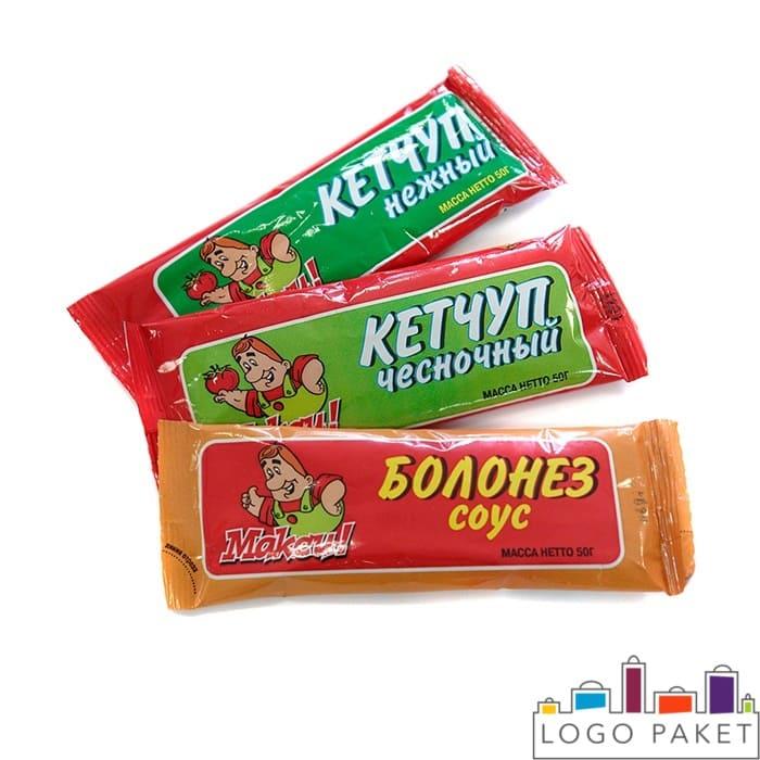 Детские пакетики с кетчупом