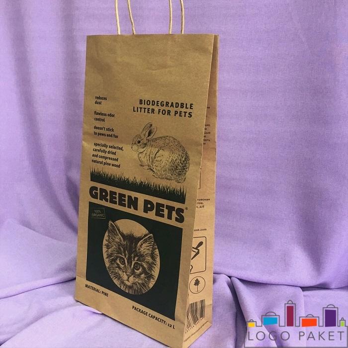 Крафт-пакет для фасовки кошачего наполнителя