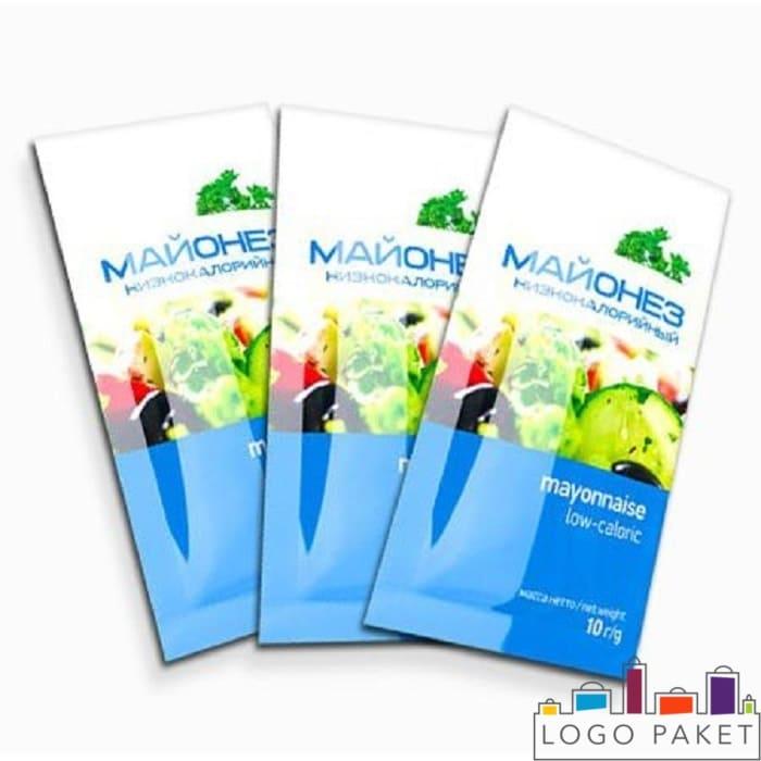 Флексопечать на саше-пакетах для майонеза