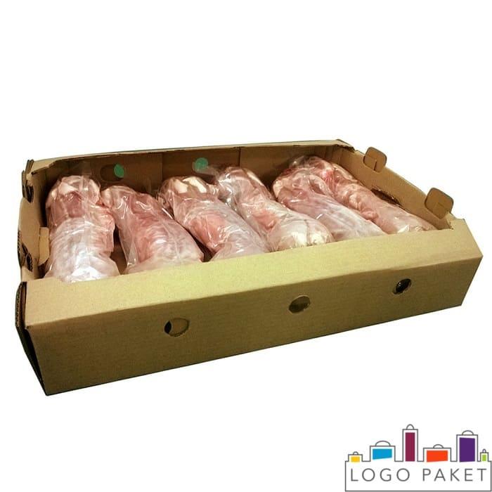 Мясо в ваакумной упаковке и в коробке