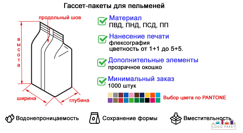 Гассет-пакеты для пельменей инфографика