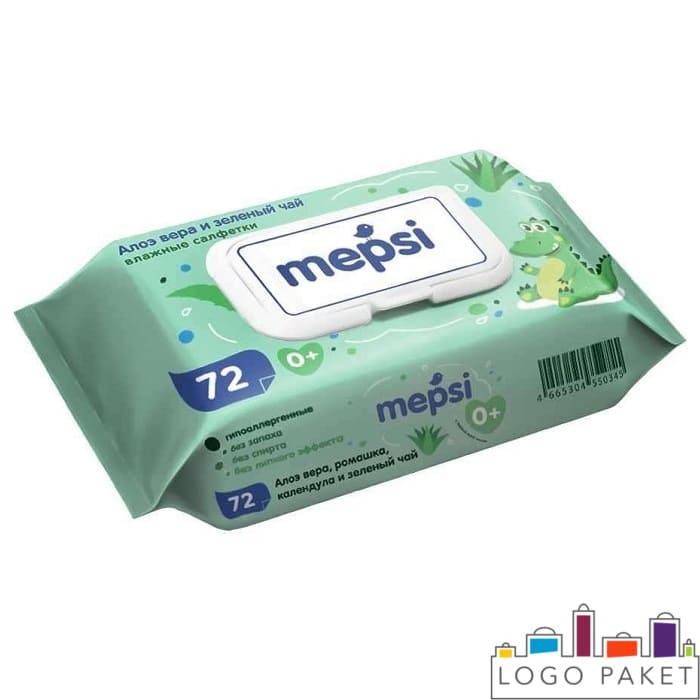Печать на упаковке для фасовки влажных салфеток