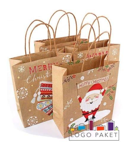 Крафт-пакет на заказ С Рождеством