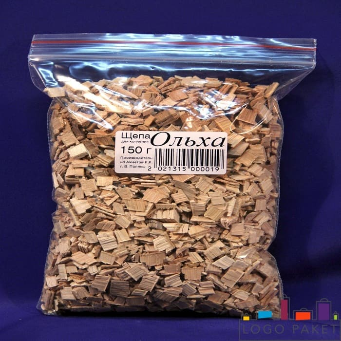 Бопп пакет для фасовки древесной щепы ольхи