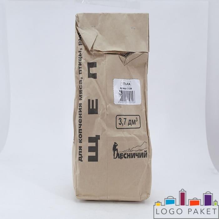 Печать на крафт пакетах для щепы флексопечатью