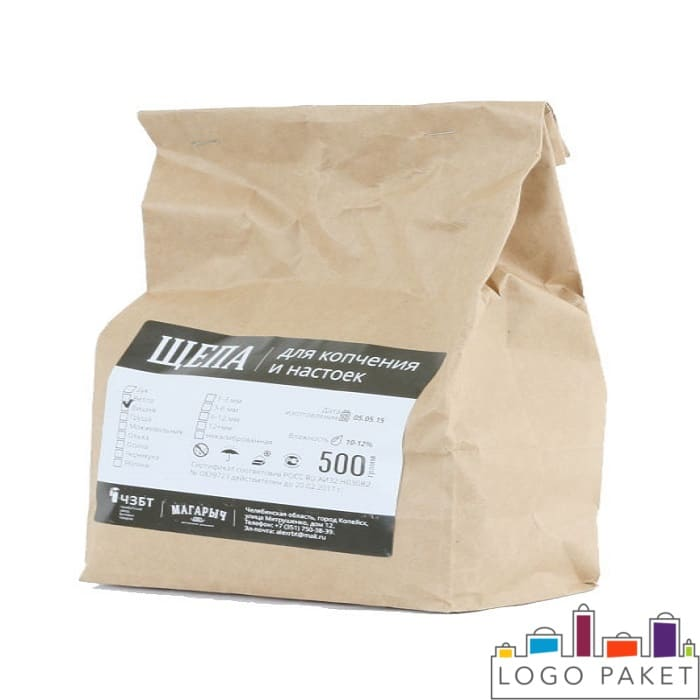 Крафт пакет, предназначенный для фасовки щепы