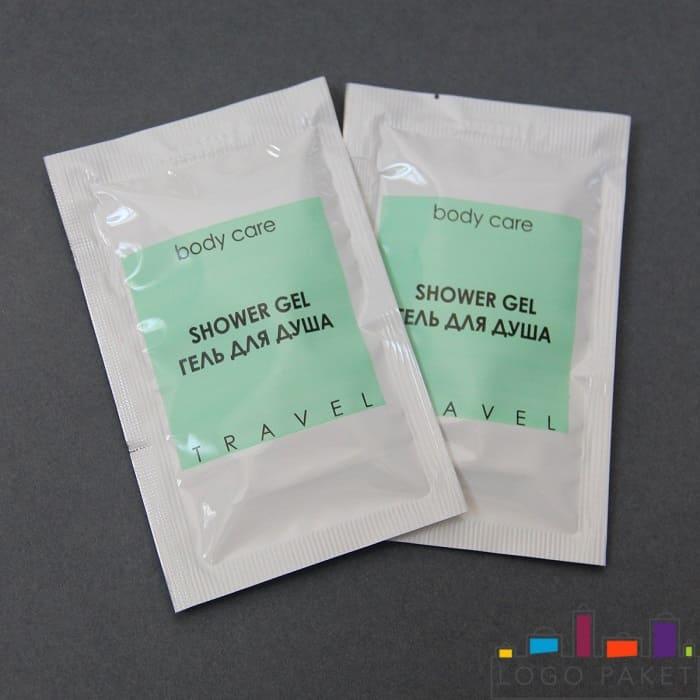 Сашет-пакет для геля для душа с печатью