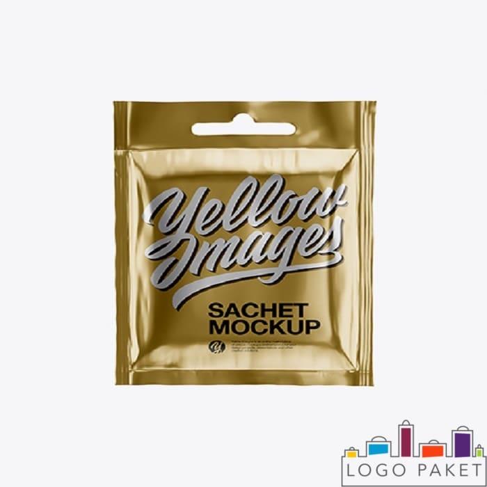 Золотой сашет-пакет для геля для душа