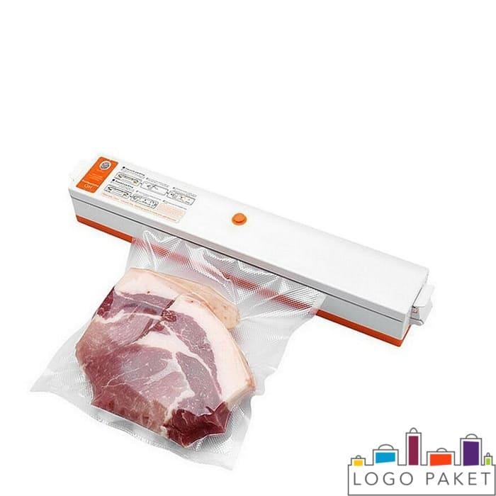 Запайка ваакумного пакета с мясом внутри