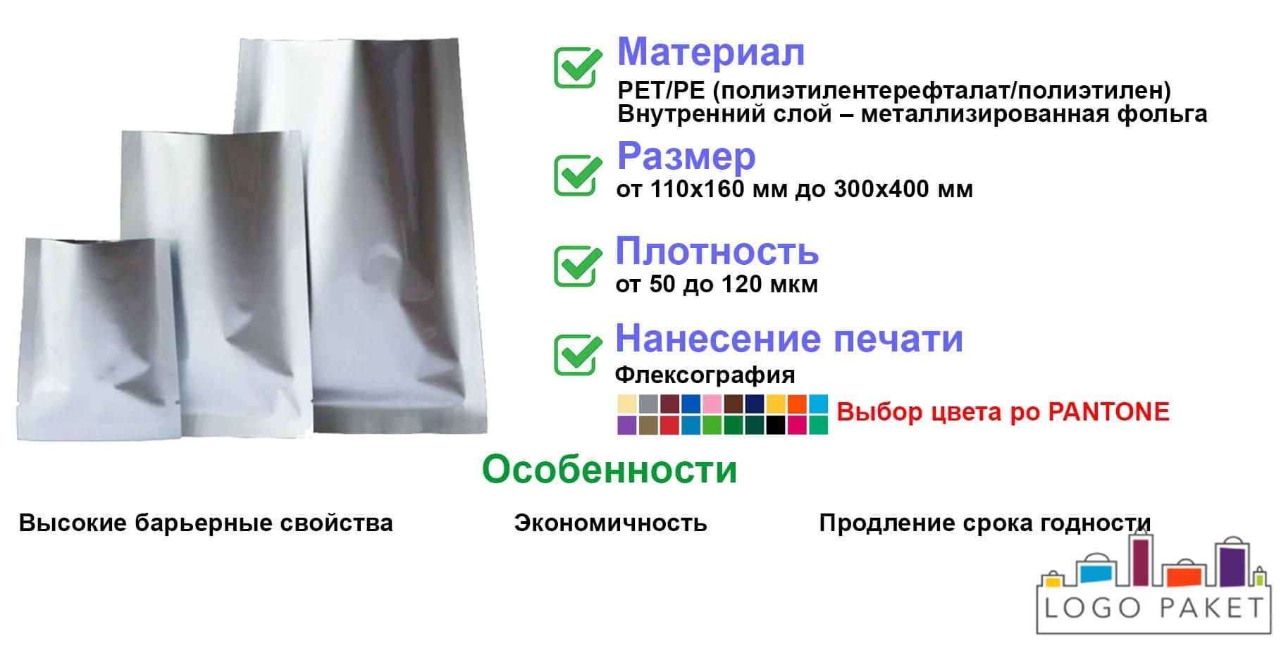 Вакуумные пакеты металлизированные инфографика