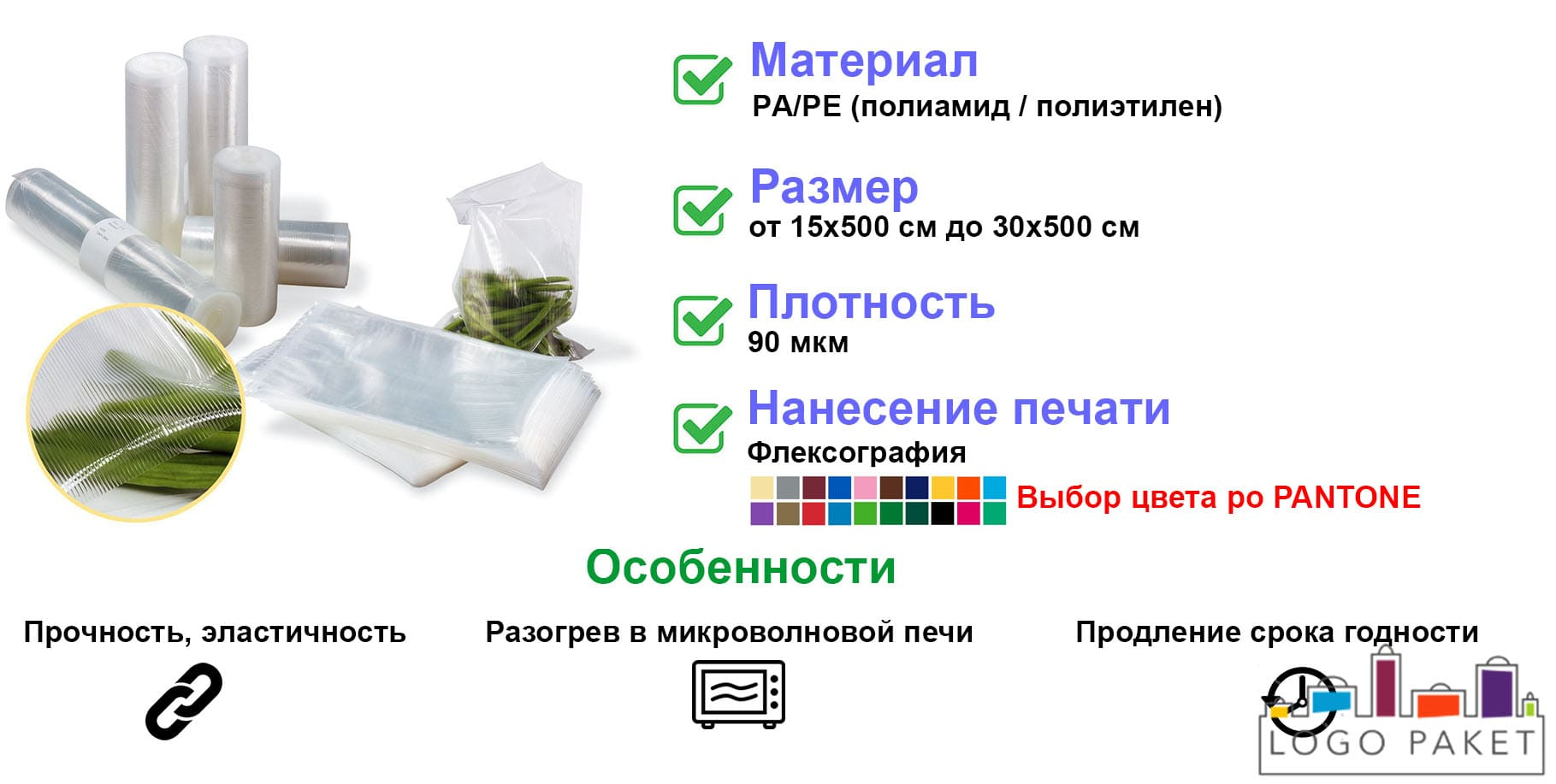 Пленка вакуумная рукав инфографика