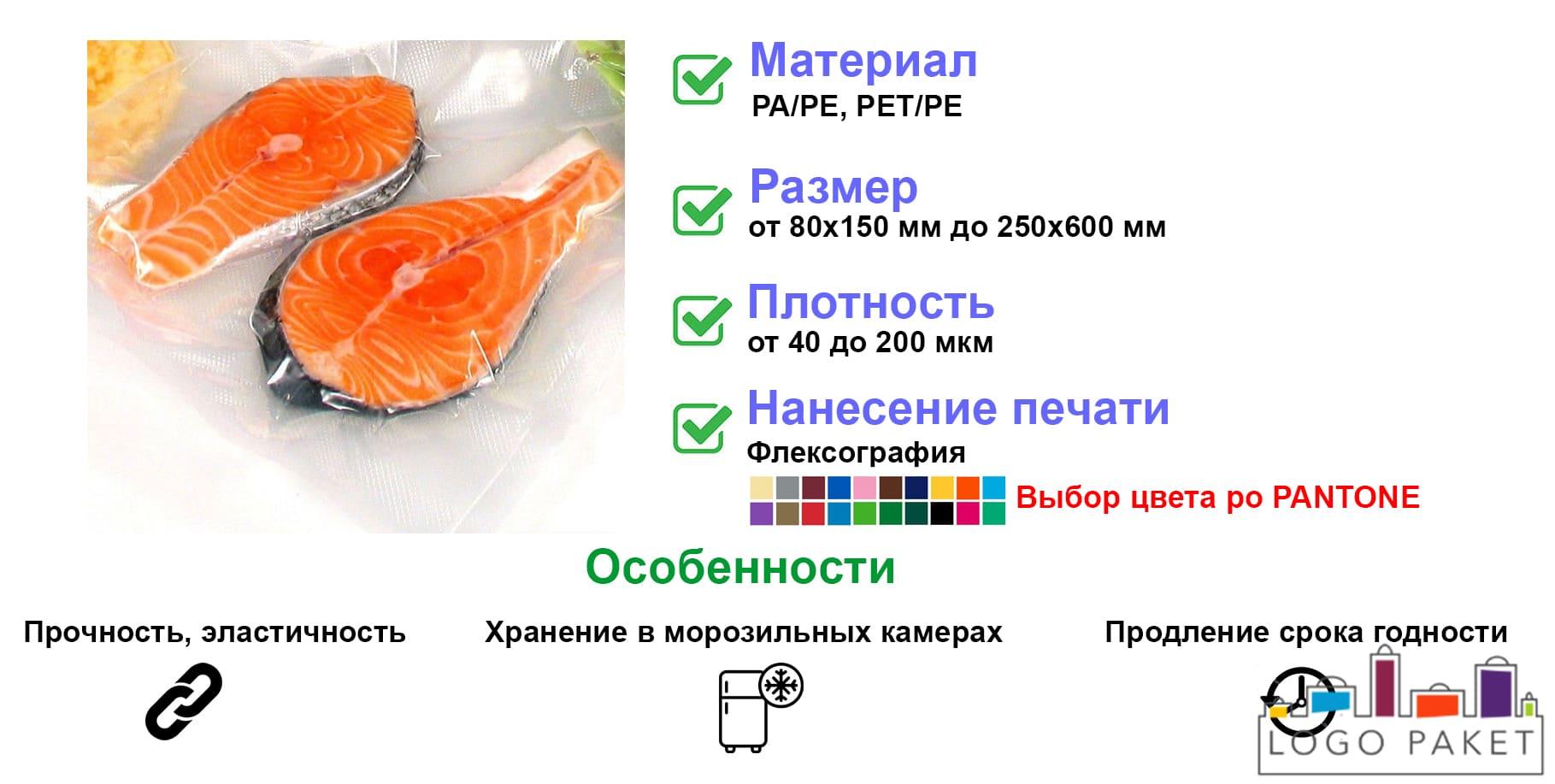 Вакуумные пакеты для рыбы инфографика