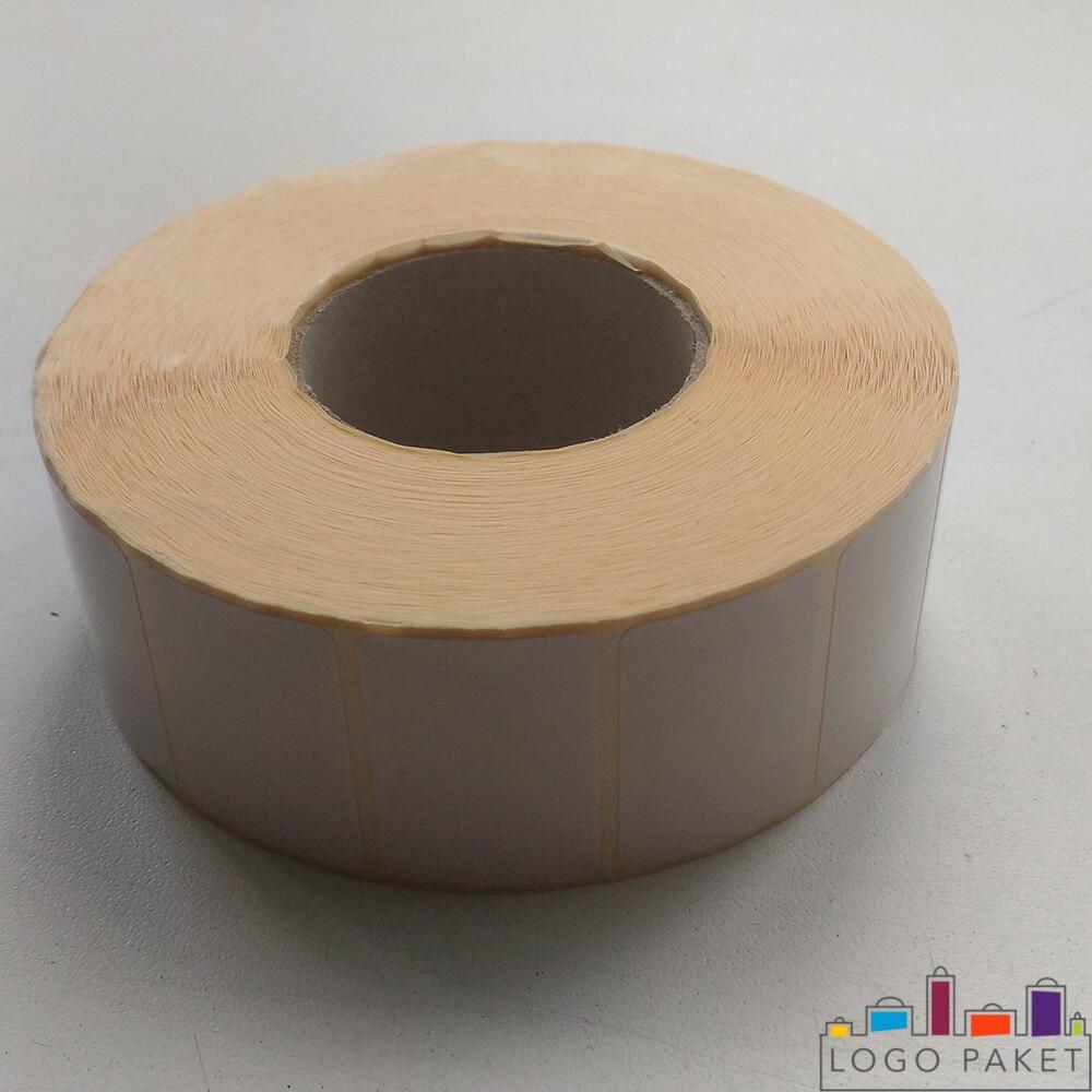 термоэтикетка белая в рулоне