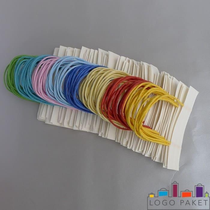 Веревочные шнуры для пакетов разных цветов