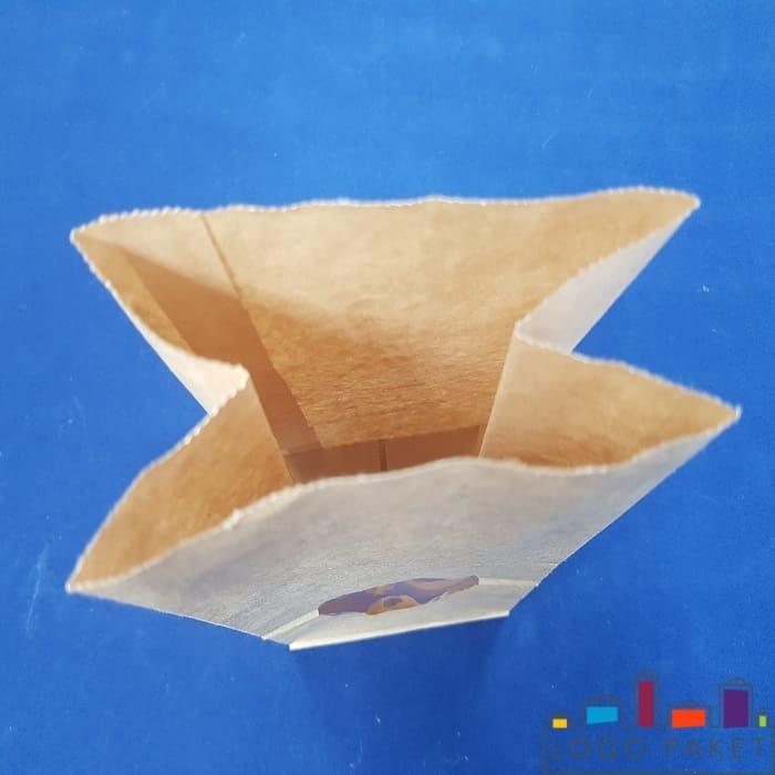 Бумажный крафт пакет внутри