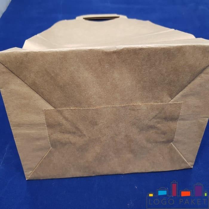 Донная складка подарочного пакета крафт