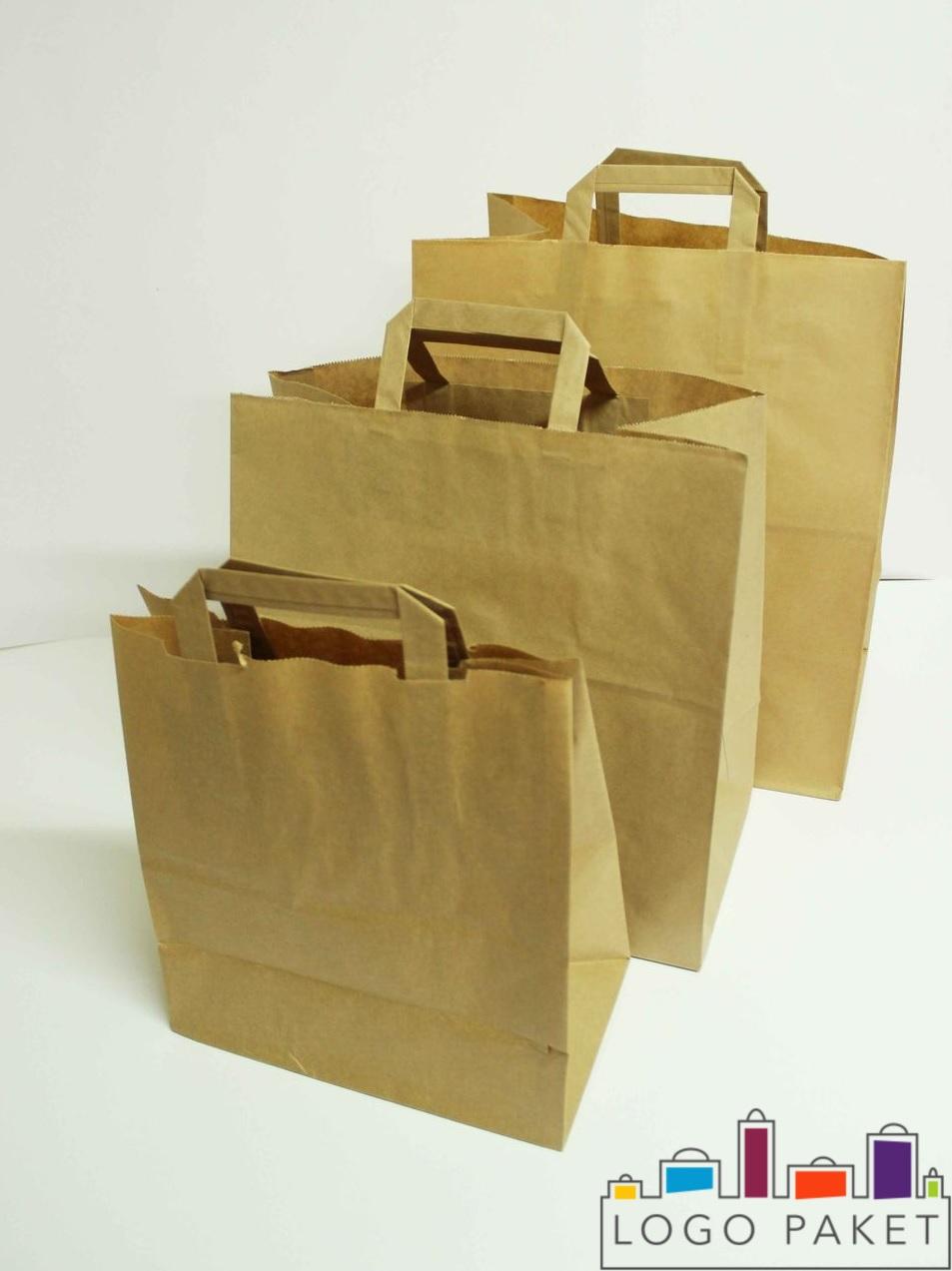 Крафт-пакеты с плоскими ручками