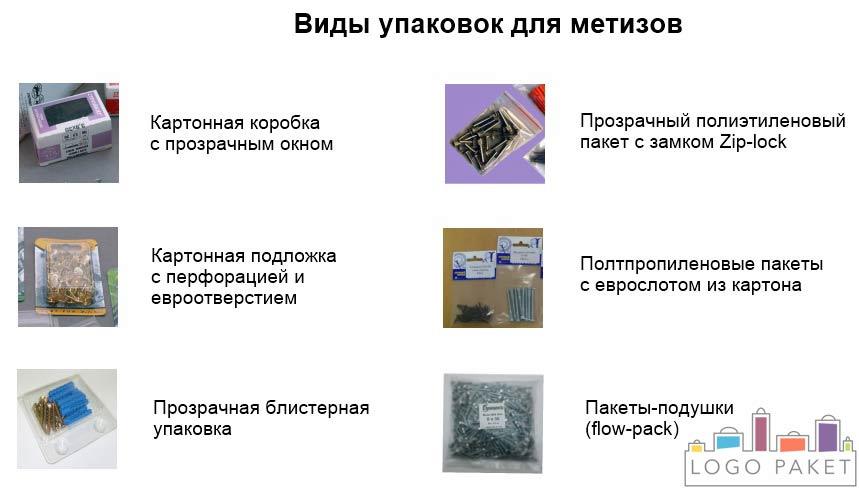 инфографика виды упаковки для метизов