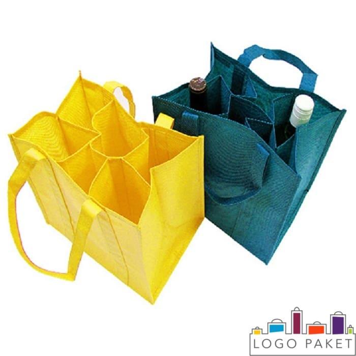 сумки из спанбонда для переноса бутылок с алкогольной продукцией